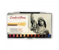 Набор пастели цветной Conte Colour carres portrait портрет, 12 шт арт 750129
