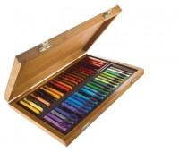 Набор пастели цветной Conte Colour carres assorted Ассорти, 48 шт , в дереве арт 750172