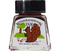 Туш Winsor & Newton, Drawing Inks 14 мл, № 074 Сиена