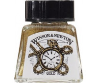 Туш Winsor & Newton, Drawing Inks 14 мл, № 283 Золото