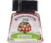 Туш Winsor & Newton, Drawing Inks 14 мл, № 601 Красный
