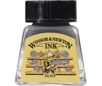 Туш Winsor & Newton, Drawing Inks 14 мл, № 617 Серебро