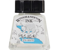 Туш Winsor & Newton, Drawing Inks 14 мл, № 702 Белая