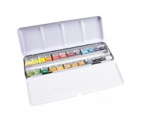 Набор акварельных красок Winsor Professional Water Colour 24 шт металлический бокс