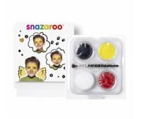 Краски для грима в наборе Mini Face Paint Chick, 3x3,75 мл, жовтий, червоний, білий арт 1172083