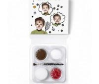Краски для грима в наборе Mini Face Paint Snow Man Universal, 3x3,75 мл, червоний, коричневий, арт 1172084