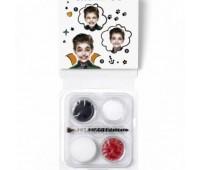 Краски для грима в наборе Mini Face Paint Vampire Universal, 3x3,75 мл, червоний, чорний, білий арт 1172086