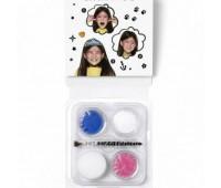 Краски для грима в наборе Mini Face Paint Festive Mask, 3x3,75 мл, рожевий, синій, білий арт 1172088