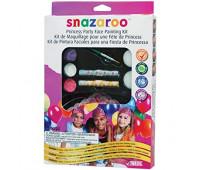 Краски для грима в наборе Princess Gift set, 6 тіар, 3 фарби, 2 карандаша, 1 пензлик, 2 спонжа