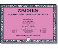 Альбом для акварели Arches крупнозернистий Arches Hot Pressed 300 гр/м2 18x26 см 20 листов
