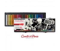 Набор мягкой пастели Conte Box в пластиковой упаковке 24 цвета арт 750131