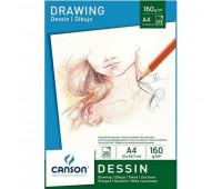 Альбом Canson для эскизов Drawing 160 гр, 21x29,7 см (20 листов)