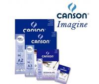 Блок бумаги для акварели А3 Mix Media Imagine 200гр, мелкозернистая, 50 листов, 0006-007 Canson