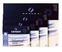 Альбом Canson Montval Bloc для акварели склейка , п.б. 185 г/м2 размер 24 x 32 см. 12 л.- 0006-529