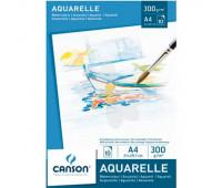 Canson блок паперу для акварелі Watercolour 300гр, 14,8х21 см (10)