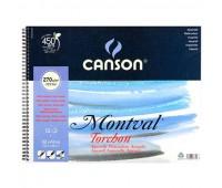 Бумага акварельная Canson в блоке Montval Torchon Bloc 270 гр, 24х32 см, 12 листов арт 0807-770