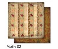 """Бумага Folia, дизайнерская Design Papers """"Autumn"""" Осінь 190 гр, 30,5x30,5 см №02 Motif 02 арт 10402"""