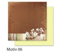 """Бумага Folia, дизайнерская Design Papers """"Autumn"""" Осінь 190 гр, 30,5x30,5 см №06 Motif 06 арт 10406"""