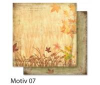 """Бумага Folia, дизайнерская Design Papers """"Autumn"""" Осінь 190 гр, 30,5x30,5 см №07 Motif 07 арт 10407"""