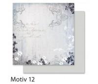 """Бумага Folia, дизайнерская Design Papers """"Autumn"""" Осінь 190 гр, 30,5x30,5 см №12 Motif 12 арт 10412"""