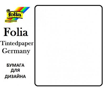 Бумага для дизайна Tintedpaper, 50х70 см №00 белая 130г/м без текстуры Folia