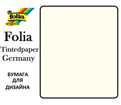 Бумага Folia для дизайна, Tintedpaper, А4 №01 жемчужно-белый 130г/м без текстуры