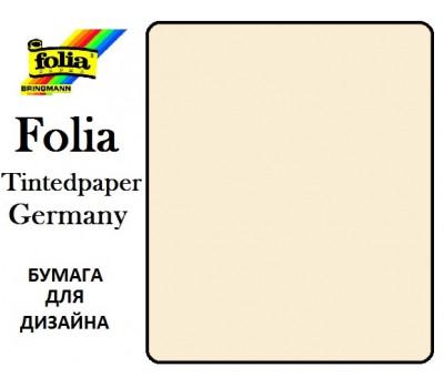 Бумага Folia для дизайна, Tintedpaper, А4 №08 бежевая 130г/м без текстуры