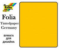 Бумага Folia для дизайна, Tintedpaper, А4 №15 золотисто-желтая 130г/м без текстуры арт 16826415