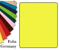 Fotokarton Folia, Бумага для дизайна размер 50х70 см №12 Лимонно-желтая 300г/м2 Folia 20 листов