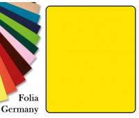 Fotokarton Folia, Бумага для дизайна размер 50х70 см №14 Бананово-желтая 300г/м2 Folia 20 листов