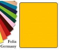 Fotokarton Folia, Бумага для дизайна размер 50х70 см №15 Золотисто-желтая 300г/м2 Folia 20 листов
