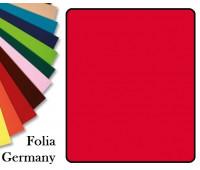 Fotokarton Folia, Бумага для дизайна размер 50х70 см №20 Ярко-красная 300г/м2 Folia 20 листов