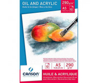 Canson блок паперу для масла та акрилу Oil and Acrylic Bloc 290 гр, 14,8x21 см 10 арт 0005-784