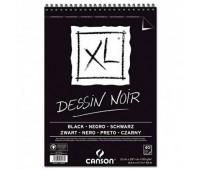 Canson блок паперу для ескізів з чорним папером, XL Dessin Black 150 гр, A4 (40)