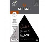 Canson блок для ескізів, Black 240 гр, A4  (20)