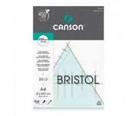Canson блок кальки для нарисів, Bristol 250 гр, A4 (20)