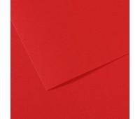Бумага пастельная Canson Mi-Teintes 160 гр 50x65 см №505 Red (Вишнево-червоний)