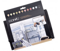 "Маркеры Copic 12 шт в наборе Marker Set ""Architechure colours"", в футляре - 20075731"