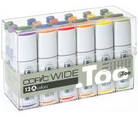 Маркеры Copic, WIDE Set A в наборе 12 шт + 12 чернил арт 3007501