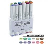 Набор маркеров Copic Sketch Set EX-6 12 шт, 21075410 Copic