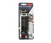 Угольные карандаши в наборе Charcoal, 9 предметов (каранд, резинка, точилка, растушевка) 700664