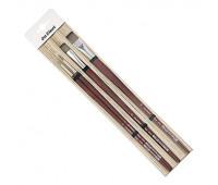 Кисти в наборе daVinci в бамбуковом пенале 8730 круглые №2,4 +8740 плоские №12,20