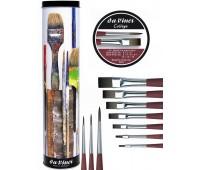 Набор кистей daVinci синтетика в металл. футляре College brush set 10 шт, 5403 Da Vinci