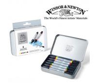 Маркеры акварельные Winsor Newton Wotercolor Markers Set, 6 шт арт 290002
