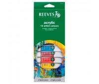 Акриловые краски Reeves Acrylic Tube Set, 12 цветов, 10 мл