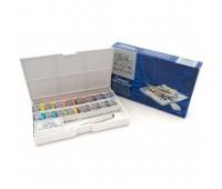 Акварельные краски Winsor Cotman Half Pan Studio Set, 16 шт+ пензлик