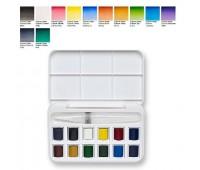 Акварельные краски Winsor Cotman Brash Pen Set, 12 шт + кисть брашпен