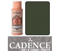 Краска по ткани Cadence Style Matt Fabric Paint, 59 мл, Зелений комуфляж арт 505F-625