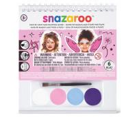 Краски для грима в наборе Snazaroo Girl, 4 краски + 1 кисть