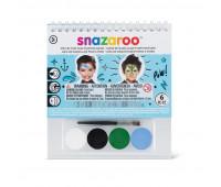 Краски для грима в наборе Snazaroo Boys, 4 краски + 1 кисть